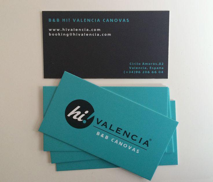 Creatividad Tarjetas Visita para HI valencia; el nuevo B&B que abrirá sus puertas en unas semanas en pleno centro de Valencia