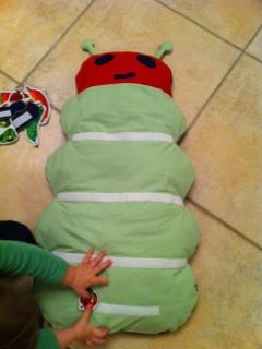 """Make your own """"Very Hungry Catterpillar"""" to use with the book! @erinstaten-- I want to make this!"""