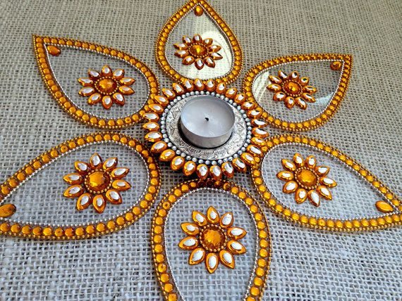 Diwali Rangoli Permanent Rangoli Autumn Table Decor by Likla, $35.00