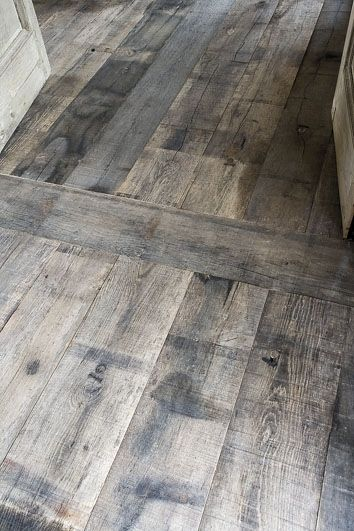washed wooden floor for kitchen, Maybe just do 1X4's instead of actual hardwood flooring and use Minwax Gray to give the washed look. I wonder how it would match to living room floors?