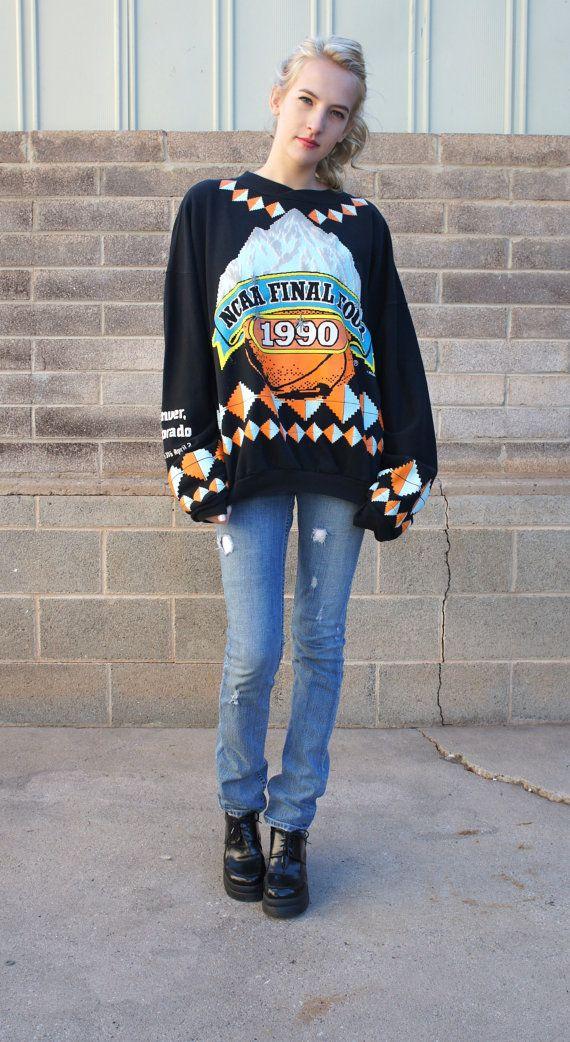 1990 NCAA Final Four Sweatshirt 90s Basketball  by HotelBrahvoVintage  https://www.etsy.com/shop/HotelBrahvoVintage?ref=si_shop