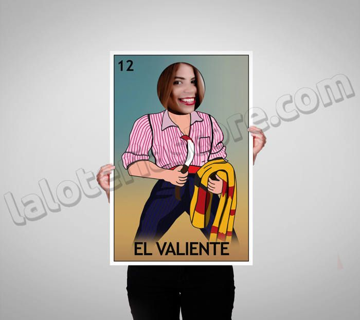 El Valiente Photo Booth 24x36 Loteria Prop Frame Halloween Costume