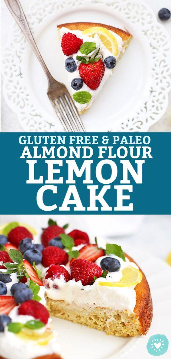Gluten Free & Paleo Almond Flour Lemon Cake – This light, fluffy paleo lemon cak…   – PALEO DESSERTS