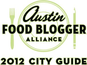 The Austin Food Blogger Alliance 2012 City Guide is out. This is your resource for food & drink in Austin.