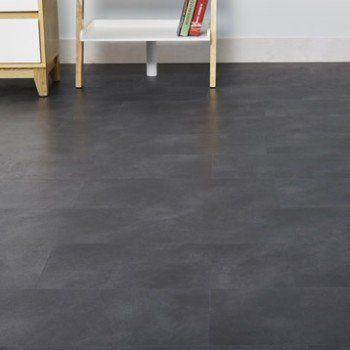 Dalle PVC clipsable effet beton anthracite ARTENS Moods   Leroy Merlin