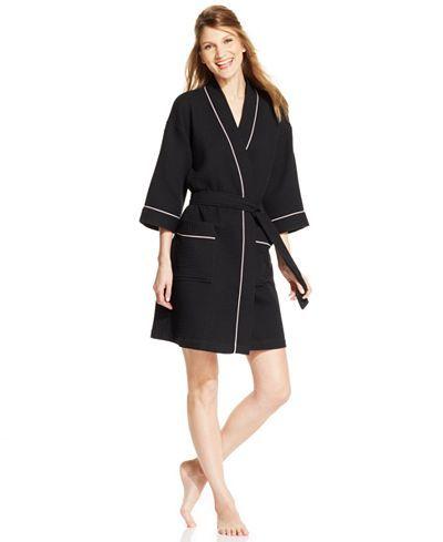 Charter Club Short Spa Waffle Robe - All Pajamas & Robes - Women - Macy's