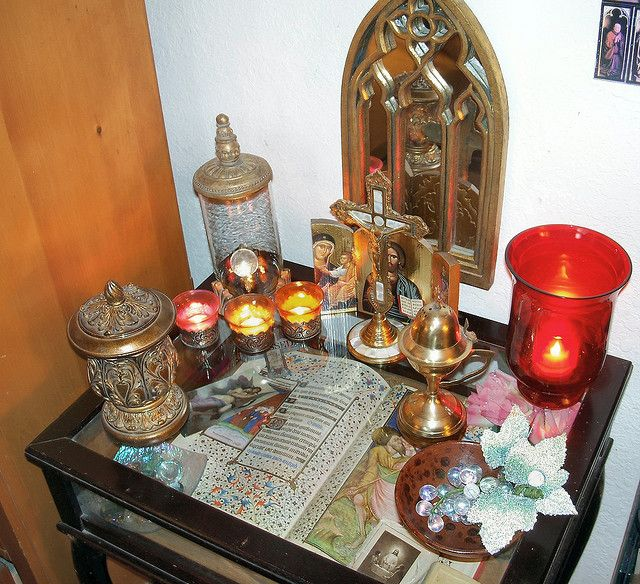 My home altar with a flash! | Flickr - Photo Sharing!