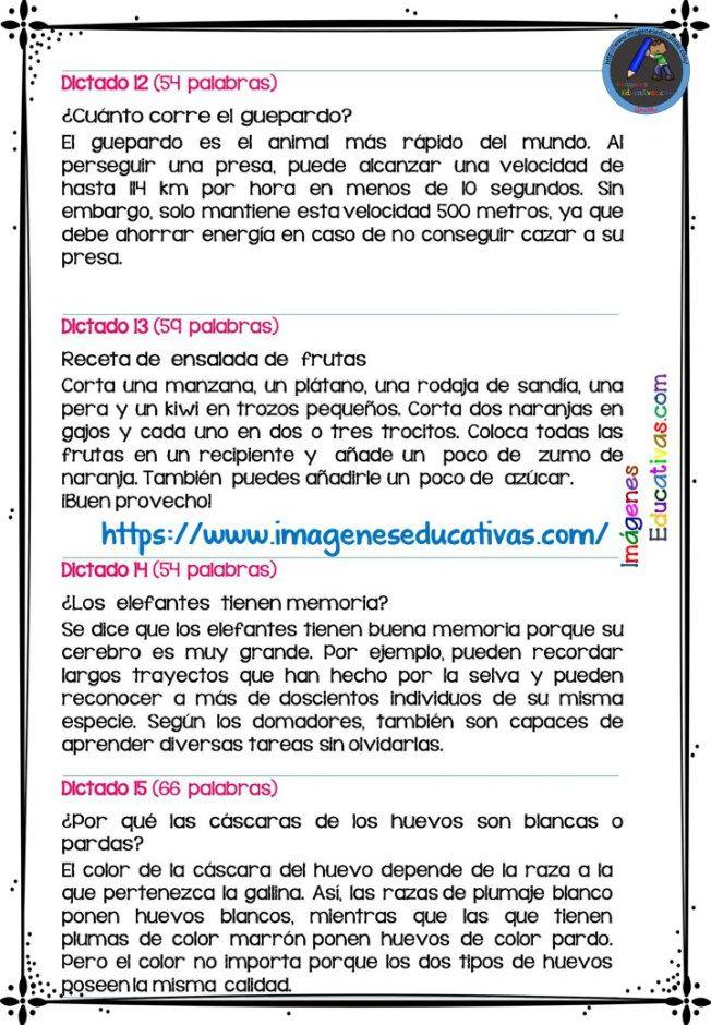 30 Dictados Para Primaria 1º 2º Y 3º Ciclo Libros De Lectoescritura Dictados Cortos Enseñando A Escribir