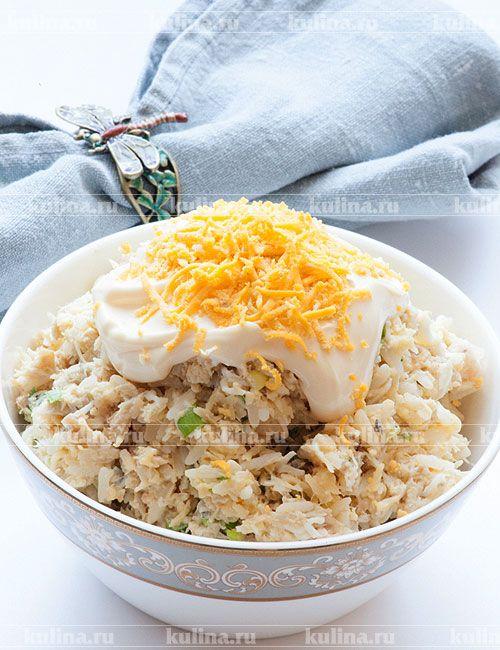 Салат из консервированной горбуши и сыра - рецепт с фото