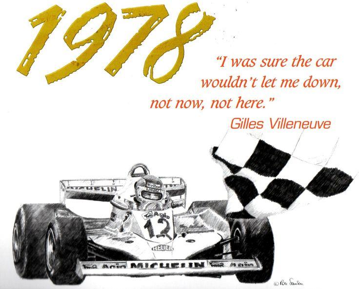 """Form """"Villeneuve a racing Legend by Allan de la Plante"""""""
