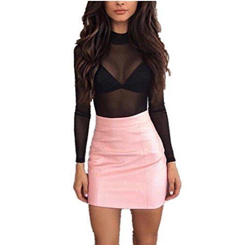 Oferta: 2.99€. Comprar Ofertas de Vestido largo Amlaiworld Mujeres vendaje de cuero lápiz bodycon cadera mini falda (M, Rosa) barato. ¡Mira las ofertas!