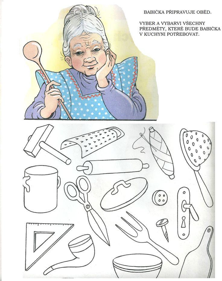 pracovní list - babička v kuchyni
