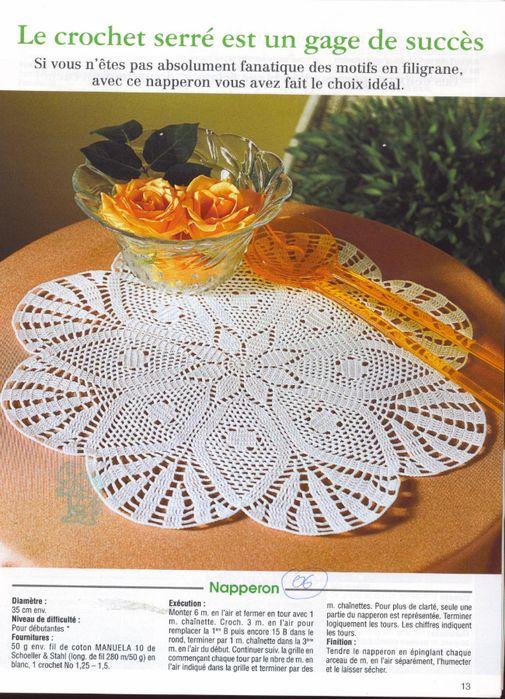437 best crochet doilies images on pinterest - Set de table crochet ...