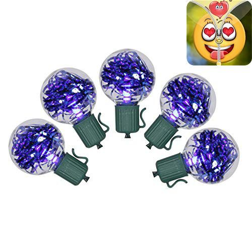 #sale Set of 25 #Blue Tinsel LED Christmas Lights Item #X104322 Product Features: Color: blue bulbs / green wire Bulbs are each filled with blue tinsel Number of...