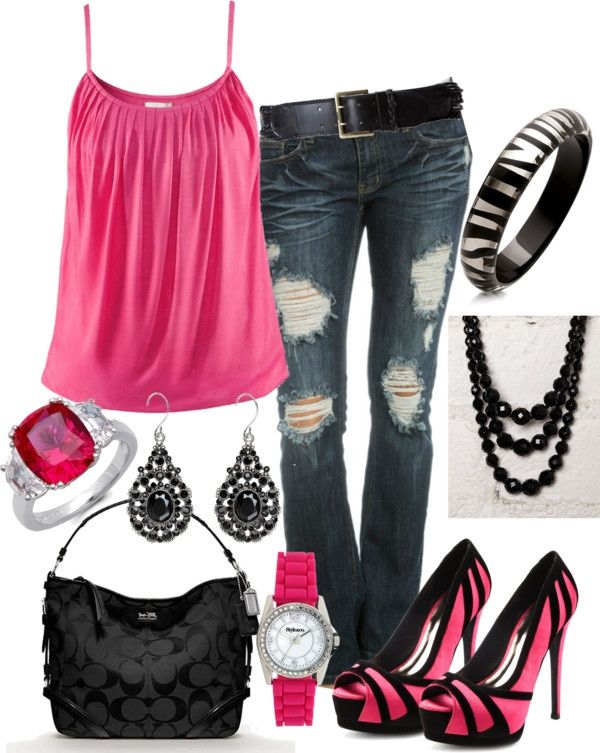 Pink and zebra...love the shoes!!
