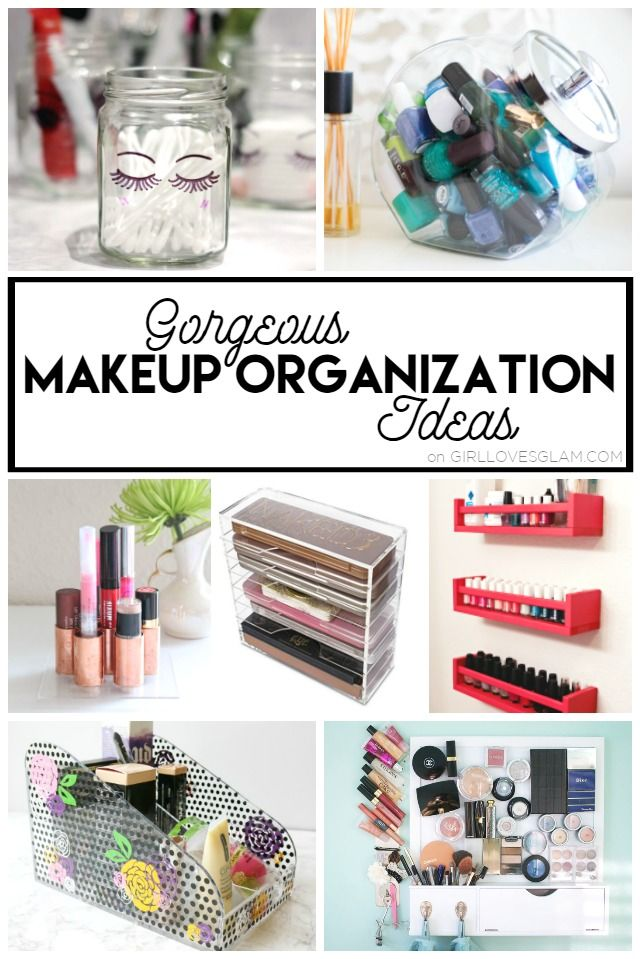 Tons of gorgeous makeup organization ideas that will keep your makeup in the right place while making your space beautiful too!