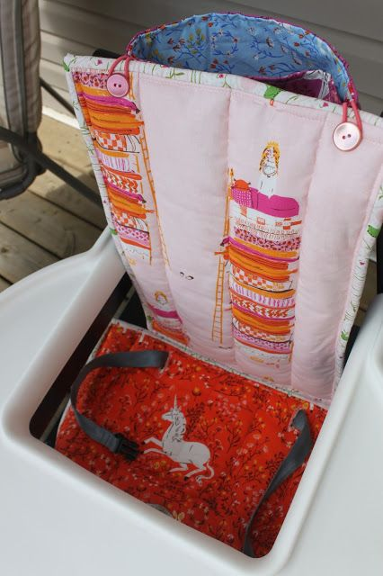 Daydreams of Quilts: Reversible High Chair Cover with storage pocket Tutorial for IKEA BLAMES High Chair