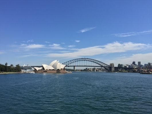 Opera House & Sydney Harbour Bridge, Sydney.