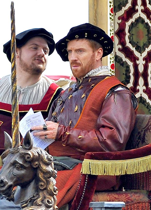 Damian Lewis in character as King Henry VIII