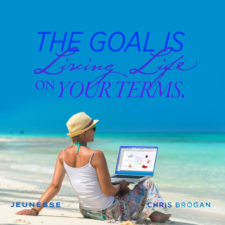 The goal is living life on your terms.  -Chris Brogan