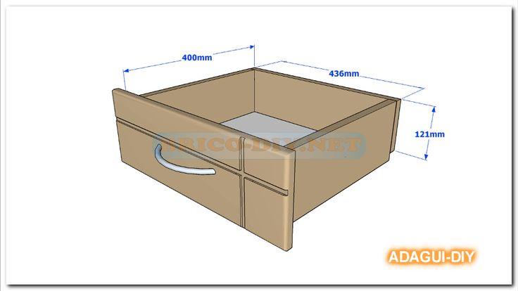 Vídeo Como hacer gavetas y cajones de mdf para muebles.   Web del Bricolaje Diy diseño y muebles