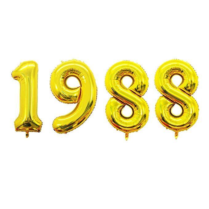 Amazon GOER 42 Inch Gold 30 Number BalloonsJumbo Foil Helium Balloons For 30th Birthday Party Decorations And Anniversary Event Home Kitchen