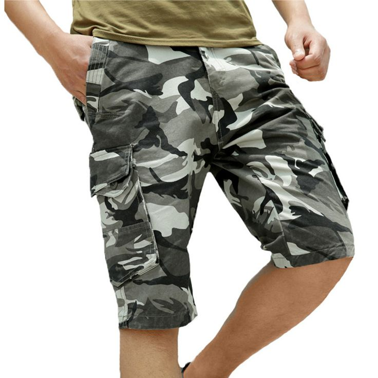 Mens Military Camouflage Shorts Army Special Forces Soldier Shorts Marine Corps Cargo Shorts Loose Short Pants Summer Clothing