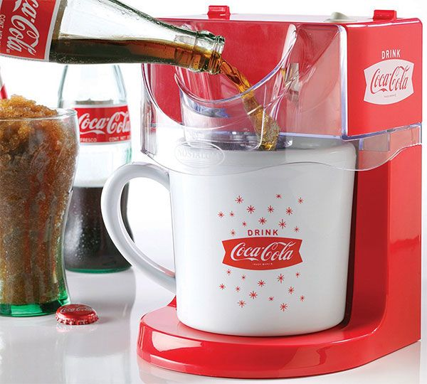 In the mood for a tasty slush drink? No need to run down to the corner store make your very own right at home with the Coca-Cola Frozen Slushy Maker Machin
