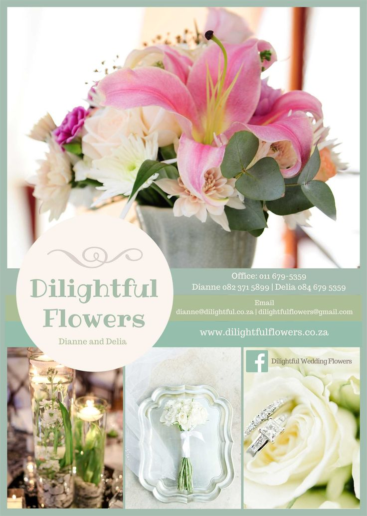 Front of Brochure - Dilightful Flowers