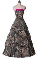 Sunvary 2016 Ball Gown Ruffled Long Quinceanera Prom Dress Camouflage