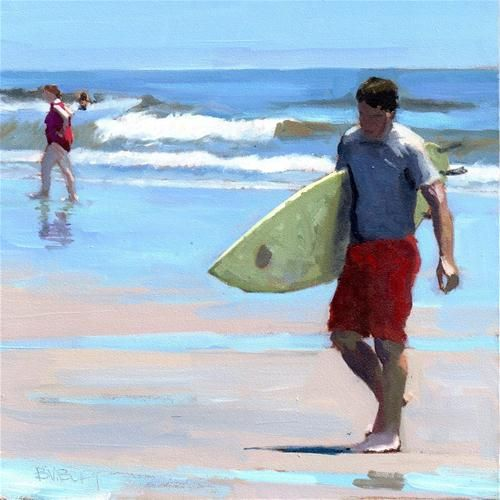 """Daily Diaper No. 278 Surfs In"" - Original Fine Art for Sale - © Brian Burt"