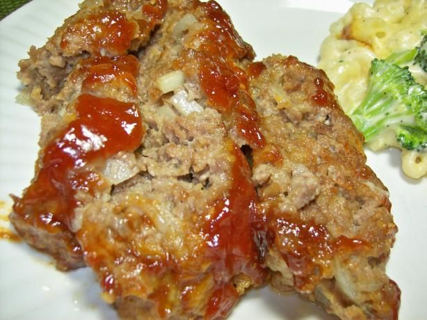 "Cracker barrel meatloaf with ritz crackers. Doubled the recipe, adding a wee bit of maple syrup. Rather than make a ""loaf"" out of it, I just put it in a pan that was slightly bigger than a 9x13""... Took the same amount of cooking time as the recipe, & was a BIG hit by the family. Will make again!"