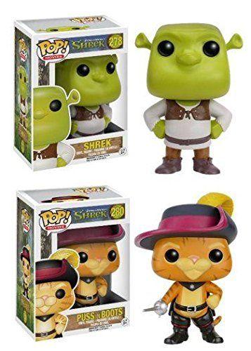 Funko POP! Shrek: Shrek  Puss In Boots - Movie Ogre Cat Vinyl Figure Set NEW @ niftywarehouse.com