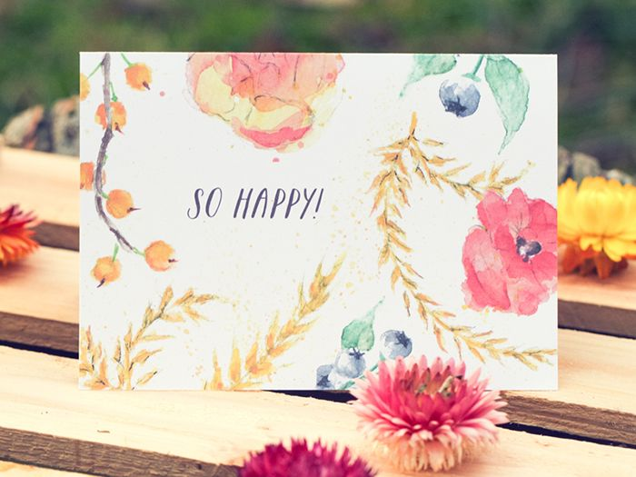 colorful country wedding stationery