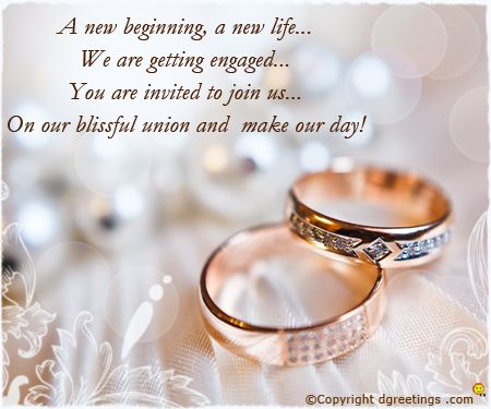 Image result for engagement invitation wording