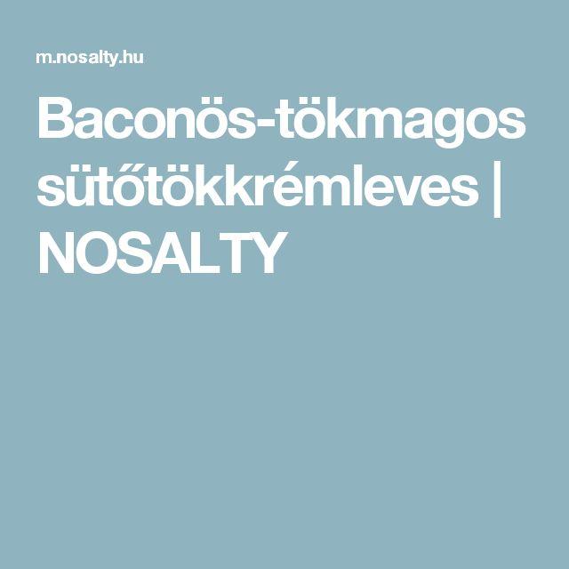 Baconös-tökmagos sütőtökkrémleves | NOSALTY