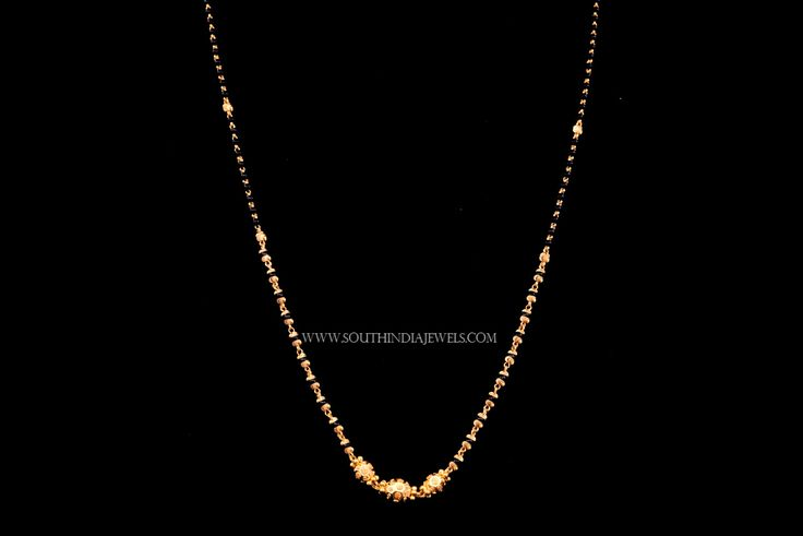 Simple Chain Necklace Designs, 22K Gold Simple Chain Necklace Models, Simple Gold Chain Necklace Collections.
