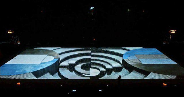 """6го октября, состоялась первая домашняя встреча новой баскетбольной команды """"Зенит""""! Мы одержали победу! А началом этого спортивного праздника был 3D Меппинг от Illuminarium3000, аудио-визуальная история   , история про то, что в начале было слово, про  большой взрыв , про  воду, про землю и конечно , про Петербург. История трансформации футбольной легенды в рождение новой звезды , новой команды, под легендарным сине-бело-голубым флагом, но на этот раз , на баскетбольном поле!"""