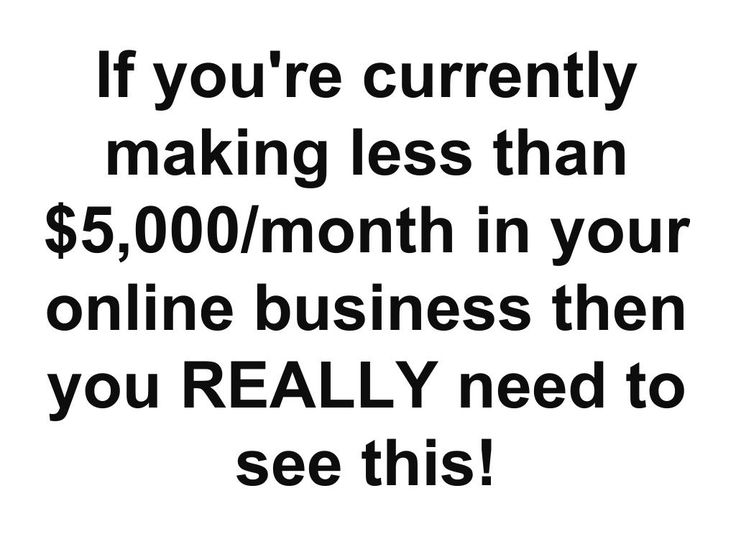 If you're currently making less than $5,000/month in your online business then you REALLY need to see this! ==>  http://www.easiestsalessystem.com/lp/mrhomebiz1