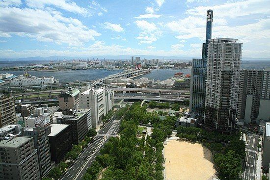 view from the Kobe City Hall Observation Deck