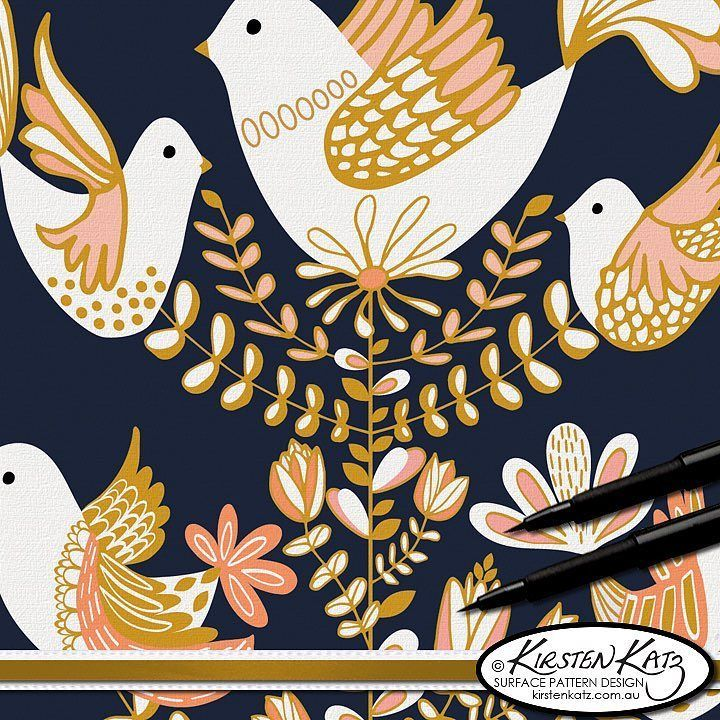 With Christmas almost here I decided to share my 'Christmas Doves' illustration which I designed for a greeting card challenge and was one of the 6 winning designs @artlicensingshow