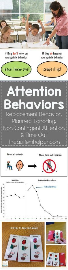 Learn more about Attention Behaviors & teaching interventions on the blog! From theautismhelper.com #theautismhelper