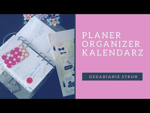 Film: Planer/Organizer/Kalendarz: Ozdabianie stron