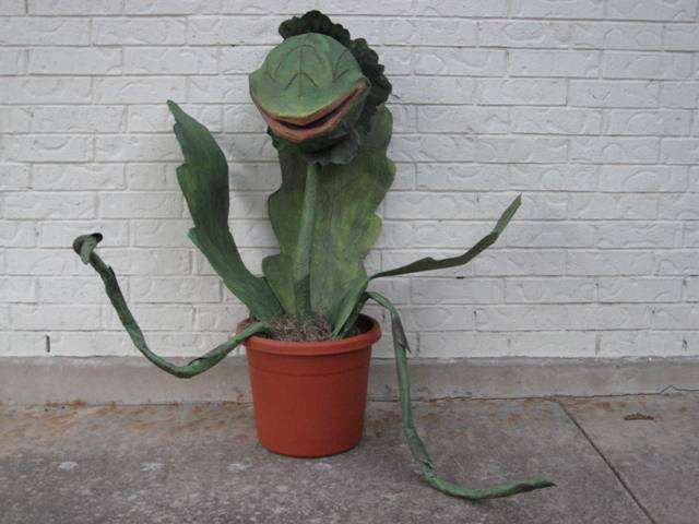 Audrey 2 from Little Shop of Horrors using paper mache tutorial ;)