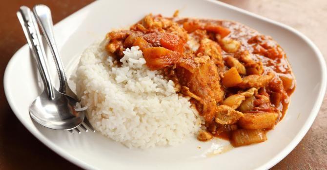 Recette de Mafé de poulet au beurre de cacahuète. Facile et rapide à réaliser, goûteuse et diététique. Ingrédients, préparation et recettes associées.
