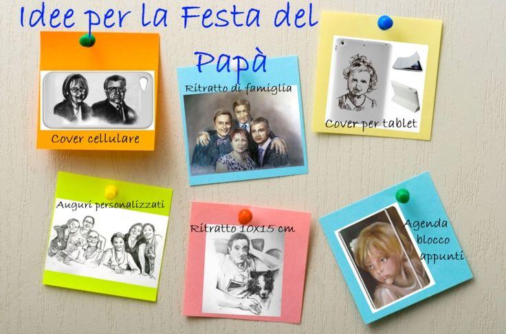 Father's day gift ideas picture for my web site digital art --- Idee per la festa del papà copertina del sito web e social in italiano