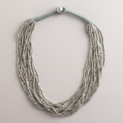 Silver Multi-Strand Necklace | World Market