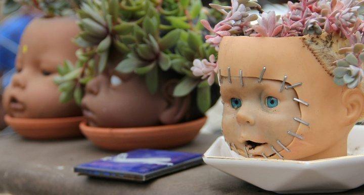 Creepy Garden Planter