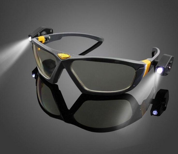 Led Flashlight Glasses Multipurpose Low Light Activity Glass Night Vision #unbranded