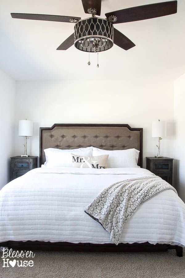 10 Stylish Non-Boring Ceiling Fans | Bless'er House.  Master Bedroom.